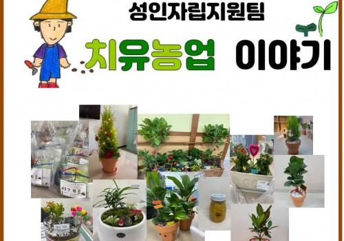 [안산시농업기술센터 지원사업] 성인자립지원팀-치유농업 이야기